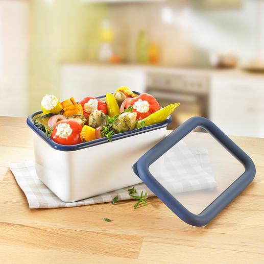 Boîtes multiusage en émail Des boîtes polyvalentes pour la cuisine, en émail.