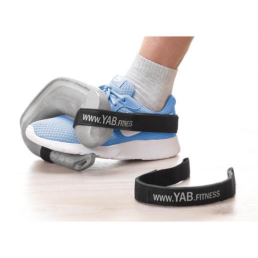 Avec la sangle YAB.Belt (disponible en commande séparée) fixée à la chaussure, ciblez un entraînement intensif des muscles des jambes, du fessier et des abdominaux.
