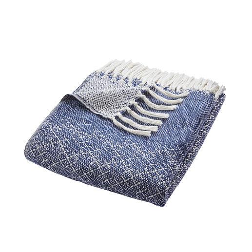 Couverture moelleuse en bouteilles PET Le développement durable peut être tellement douillet. La couverture aspect tricot en bouteilles PET recyclées.