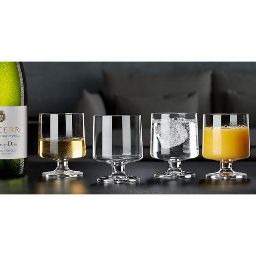 Verre design STUB Holmegaard, lot de 4 pièces Tendance rétro : les verres design des années 50. Esthétique, intemporel, sans fioritures.
