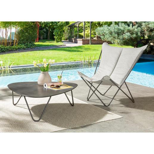 Fauteuil lounge pliant Sphinx Aussi confortable qu'une chaise longue, mais pliable pour un gain de place appréciable, léger et mobile.