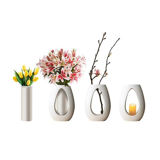 Lot de vases quatre saisons