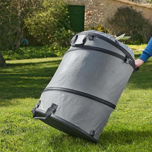 Sac à déchets verts L'ingénieux sac à déchets verts. Avec fond solide et fonction accordéon. Solide, extrêmement stable et durable.