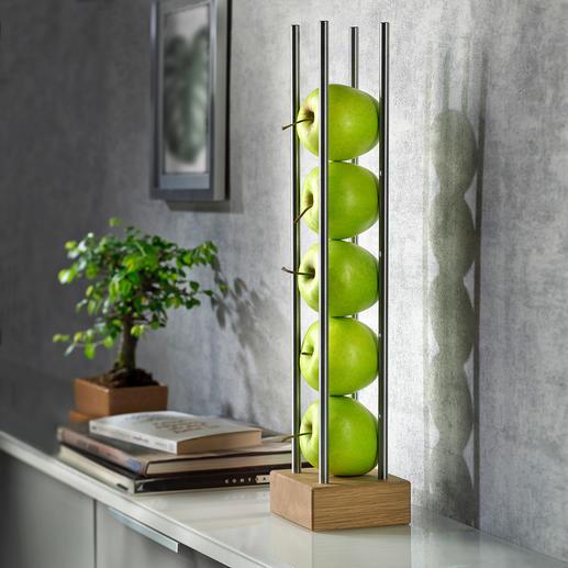 Porte-fruits Un porte-fruits élancé au lieu d'une grande corbeille : économise de l'espace tout en étant esthétique.