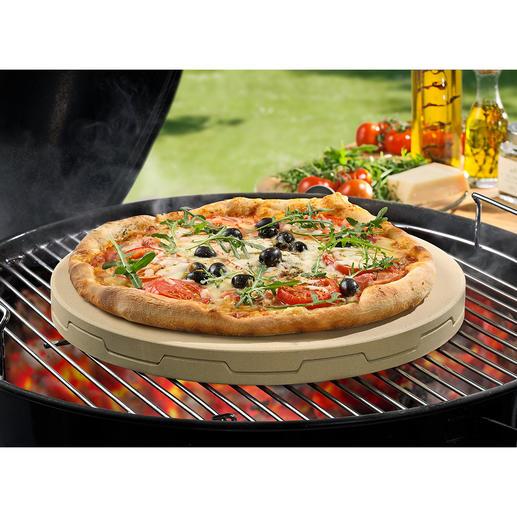 Double pierre à pizza Peut cuire une pizza sur pierre uniformément tout en la rendant croustillante, avec une garniture juteuse.