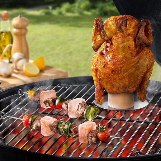 Pierre de sel pour poulet rôti ou Piques à brochettes Doré de toutes parts, bien cuit et juteux à l'intérieur. Une saveur inégalée et une faible teneur en graisse.
