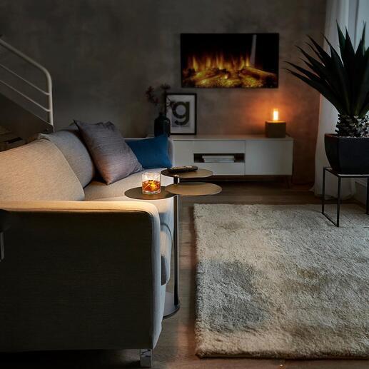 Table d'appoint MALO La délicate table à 3 plateaux. Mobile et pratique, partout dans la maison.