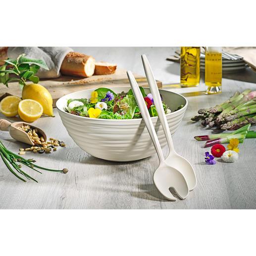 Set à salade Tierra Fait main telle une poterie de haute qualité – mais à partir de bouteilles en PET recyclées.