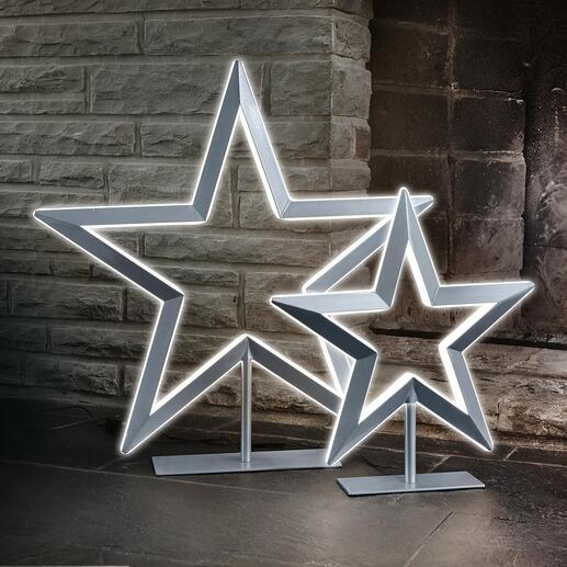 Étoile LED L'étoile lumineuse de luxe. Dimmable en continu. Avec laque métallisée. De Villeroy & Boch.