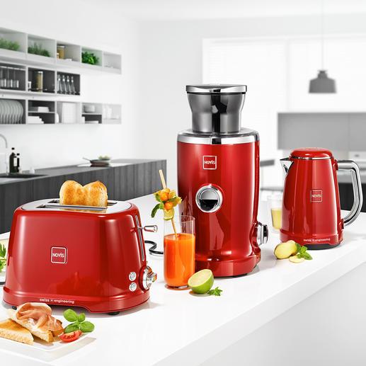Juicer, Bouilloire ou Grille pains NovisIconicKTC1 Electroménager primé : la série de haute qualité pour le petit-déjeuner, de Novis, Suisse. Design iconique, construction robuste, perfection technique.