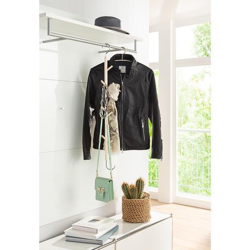 Cintre à crochets Simplement à accrocher et c'est tout : le cintre de portemanteau en bois d'érable non-traité.
