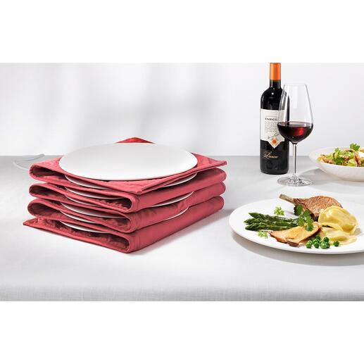 Chauffe-assiettes Avec centre bien chaud et bords chauds, mais pouvant être saisis à la main. Pour réchauffer jusqu'à 12 assiettes à pâtes ou grand format.
