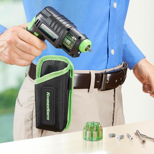 Perceuse sans fil 3-en-1 Rangez poinçons, perceuse et tournevis sans fil : un seul outil compact vous suffit !