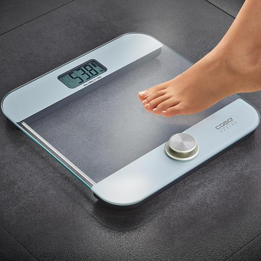Pèse-personne sans piles Body Energy Ecostyle Vous économisez de l'argent et préservez l'environnement. Et cette balance est toujours prête à être utilisée.
