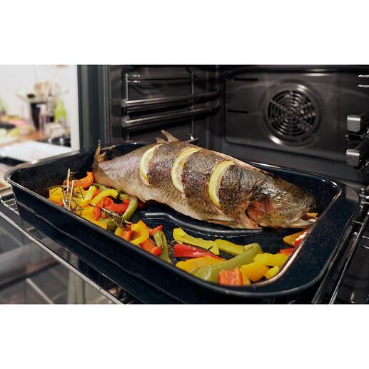 Support pour poisson Eurolux® Rien à retourner péniblement. Rien ne colle ou ne se défait. Récompensé par le German Design Award 2020.
