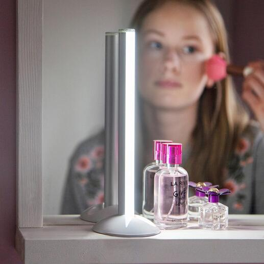Lampe tube sur batterie Elégante, anti-éblouissante et ingénieusement mobile. Une lumière claire et ciblée, où et comme vous en avez besoin.