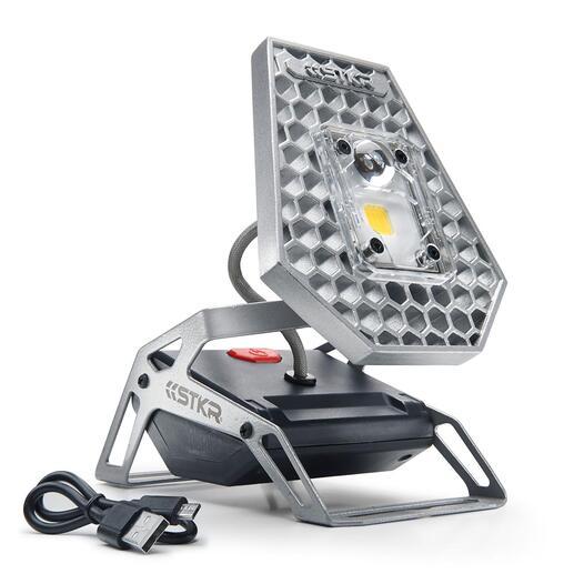 Projecteur à LED sans fil Le spot sans fil ingénieusement flexible avec une LED de 10 W : offre 7,5 heures de luminosité où et quand vous en avez besoin. Pour l'intérieur comme l'extérieur.
