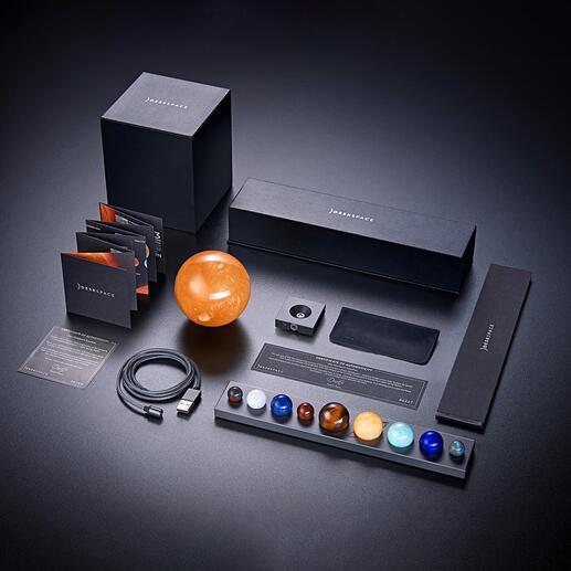 Kit complet, avec système planétaire et lampe solaire.