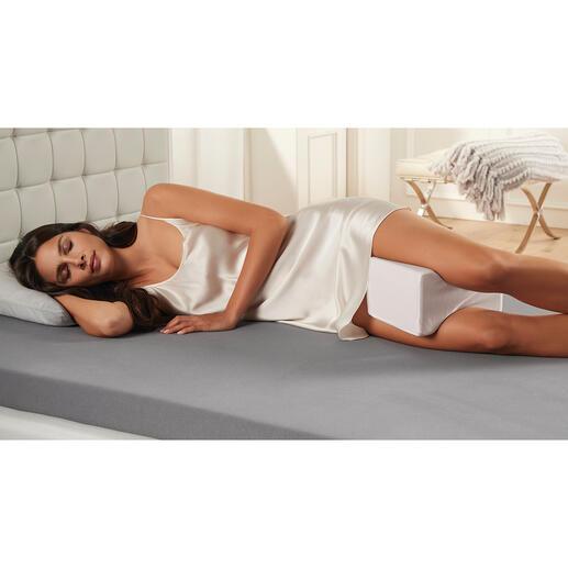Coussin relève-jambes à gel refroidissant La nouvelle génération de coussins relève-jambes avec revêtement en gel refroidissant pour un sommeil confortable.