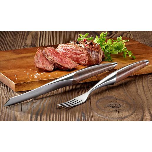 Couverts ou Couteau à steak Sknife, lot de 2pièces Les couverts à steak des restaurants 3 étoiles – maintenant pour un usage domestique.