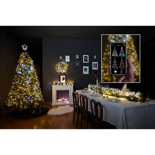 Guirlande lumineuse magique Pour créer une variété presque infinie d'effets lumineux selon vos souhaits. Facile à commander, via un smartphone.