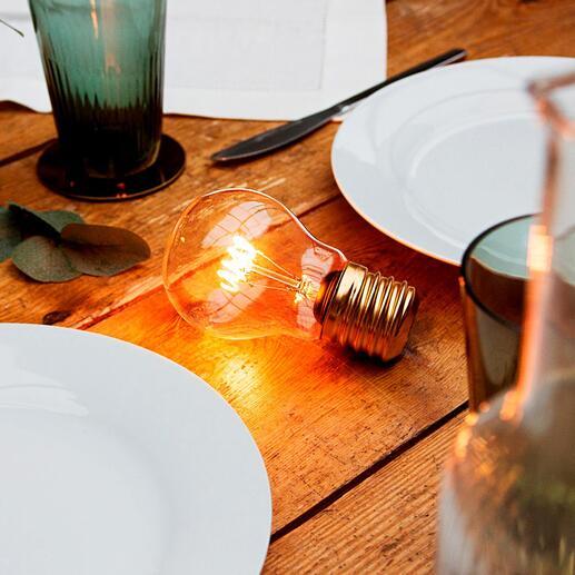 Ampoule à filament magique La beauté des ampoules classiques – sans fil, avec la technologie LED moderne.