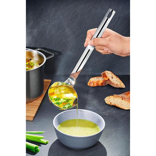 Louche séparatrice de graisse Dégraissez vos soupes et vos sauces le plus rapidement et le plus facilement du monde.