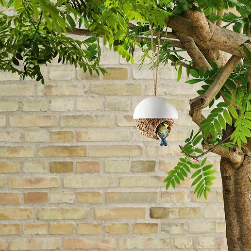 Nid à oiseaux Prêt à l'emploi : le nid en jonc tressé à la main pour les mésanges et autres.