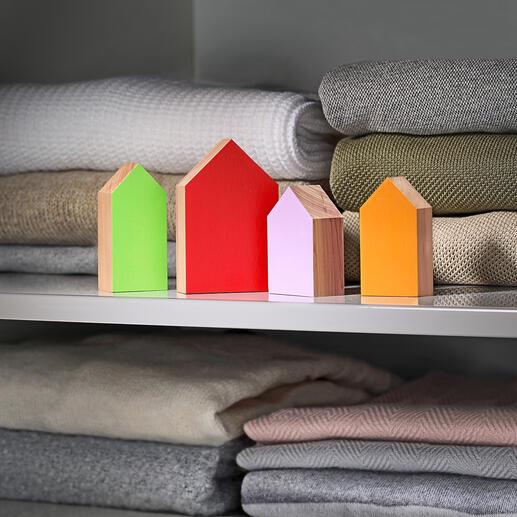 Maisons de gardien antimites, lot de 4pièces Tient les mites à distance de votre armoire à vêtements. Protège et rafraichit votre garde-robe.
