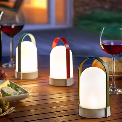 Lampes rechargeables Piccolos, lot de 3pièces Portatives, variables et polyvalentes. À poser ou à suspendre. En lot de 3 pièces.