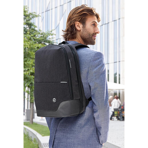 Sac à dos «TakeCare» La nouvelle génération de sacs à dos pour ordinateur portable : antibactérien, protection RFID, tendance et ingénieux.