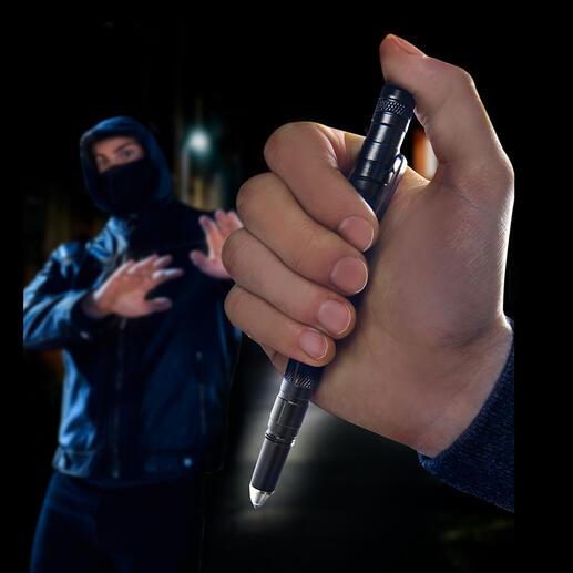 Tactical Pen 9 outils en un seul objet : stylo solide, lampe LED, brise-vitre, outil d'auto-défense …