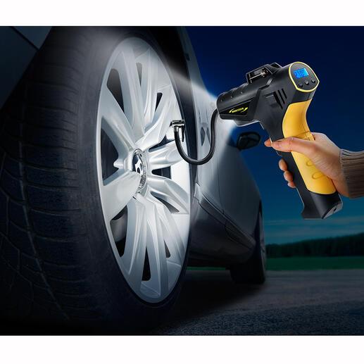 Compresseur et pompe 4,5bar sans fil Vérifier et corriger confortablement la pression des pneus comme à la station à essence, à la maison ou sur la route.
