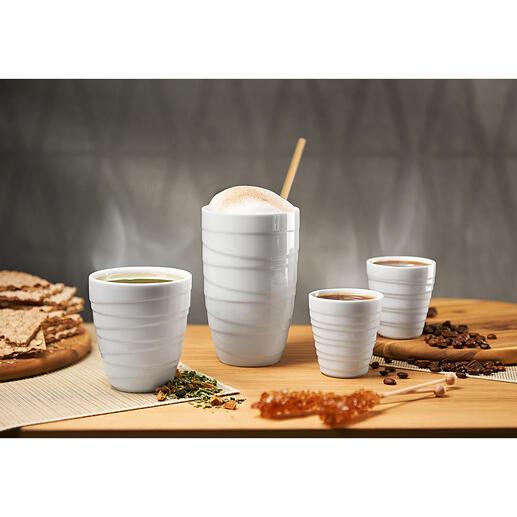 Tasse thermos en porcelaine La tasse thermos en porcelaine à double-paroi pour une dégustation unique. Au design primé.