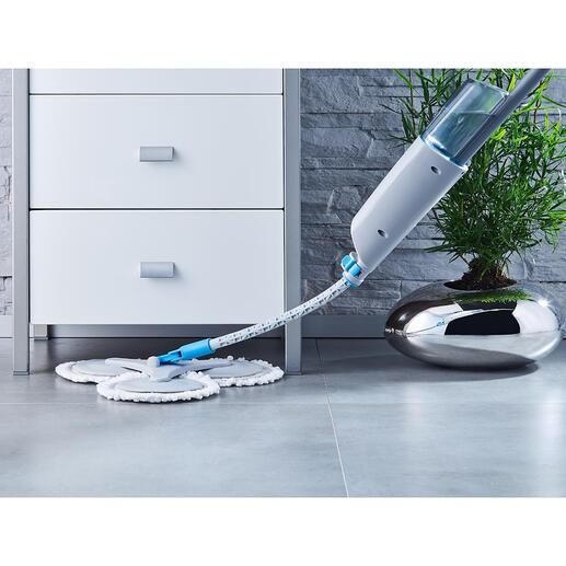 Serpillière à 360° avec pulvérisateur
