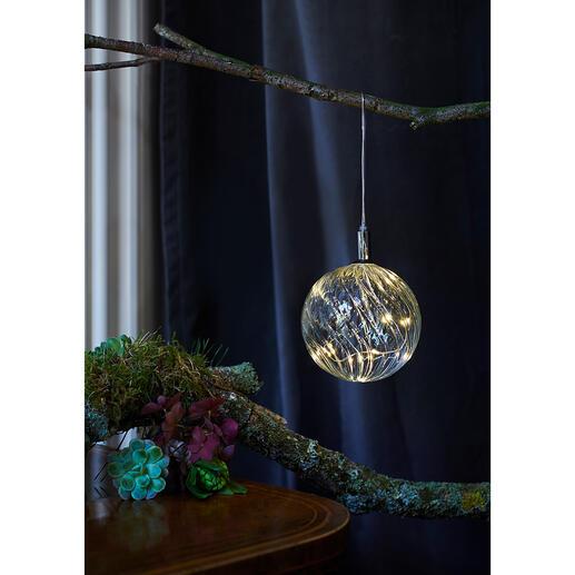 Boule en verre avec micro-LED