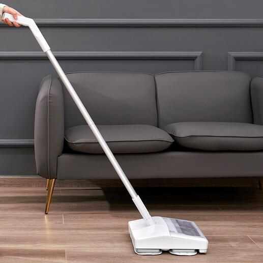Balai aspirateur vibrant sans fil L'appareil génialissime : il aspire et nettoie en un seul passage, et maintenant avec une fonction vibrante pour un nettoyage encore plus approfondi.