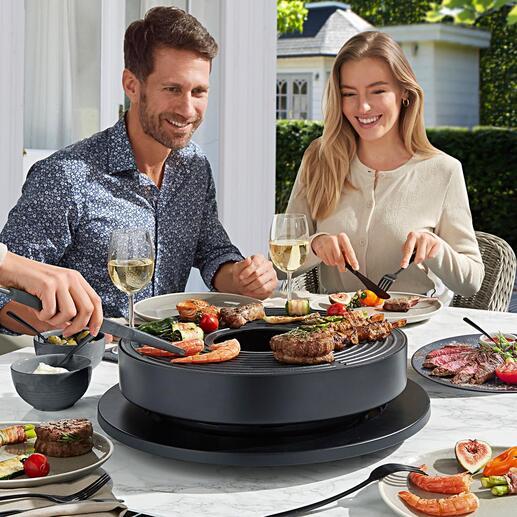 Gril de table design Tabl'O Génial : le gril de table design avec de la véritable braise. Parfait pour des repas variés en bonne compagnie.