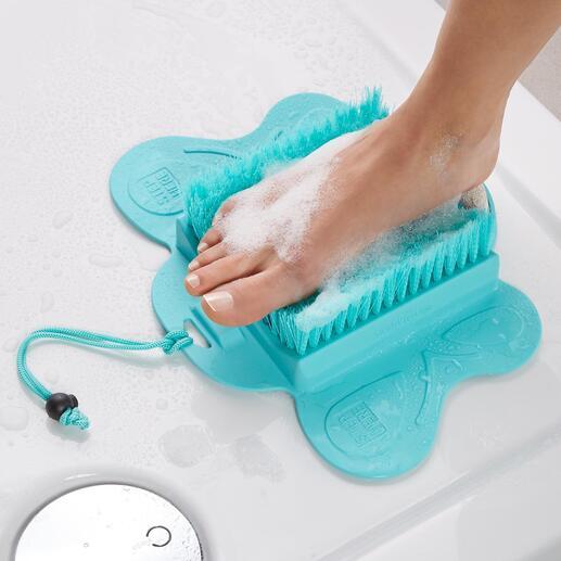 Brosse de soin des pieds Des pieds propres et soyeux, sans se pencher ni se contorsionner.
