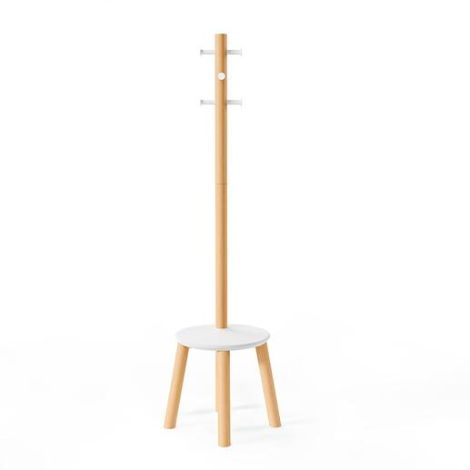 Design moderne et élancé en bois massif et métal.