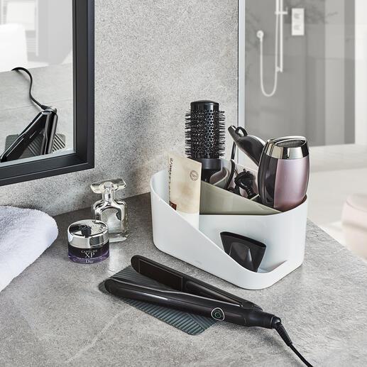 Organiseur d'accessoires de coiffure Vos accessoires de coiffures les plus importants sont maintenant regroupés, ordonnés et prêts à l'emploi.