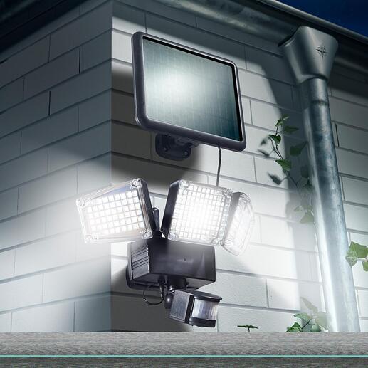 Lampe de sécurité solaire 1 500 lumens Projecteur 1 500 Lumens piloté par capteurs,  pour davantage de sécurité le long des allées du jardin, des marches, de l'entrée ...