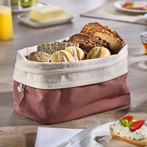 Sac à pain 2-en-1 Une corbeille à pain décorative et un sac à pain durable en un seul objet. Purement naturel. Toujours réutilisable.