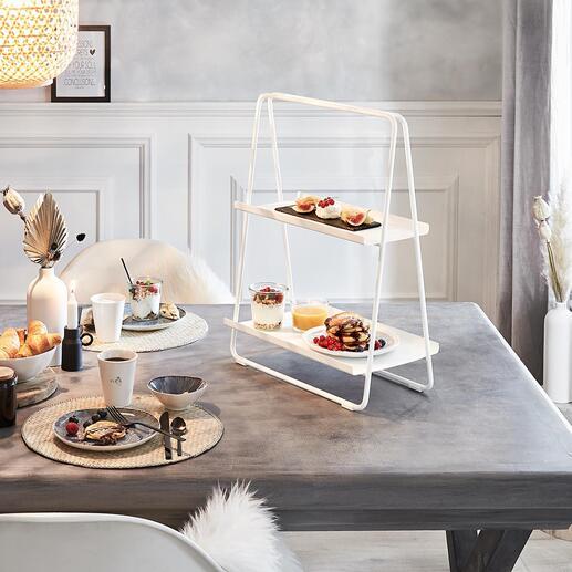 Desserte transportable Une table d'appoint mobile, une desserte pour le petit-déjeuner, un présentoir pratique et un plateau pour le café et le thé.