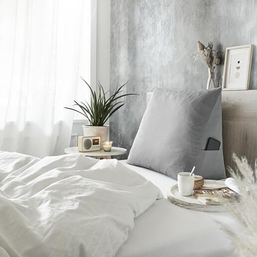 Coussin d'assise de lit S'asseoir, lire, regarder la télévision ou prendre le petit-déjeuner au lit peuvent enfin être des activités confortables.