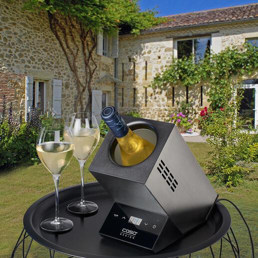 Rafraîchisseur de vin design électrique Un appareil au design élégant vous permet de servir vos vins exactement à la température de dégustation souhaitée.