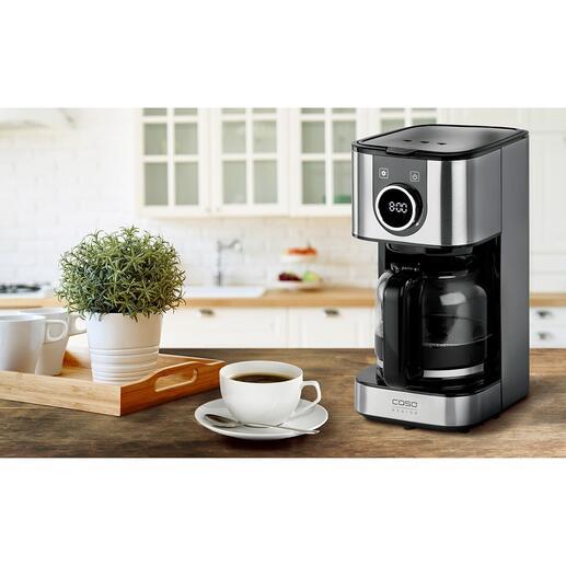 Cafetière design Selection avec verseuve en verre ou -thermos Tout ce que vous attendez d'une machine à café filtre parfaite, à un très bon prix. Un produit design et de qualité, signé Caso.