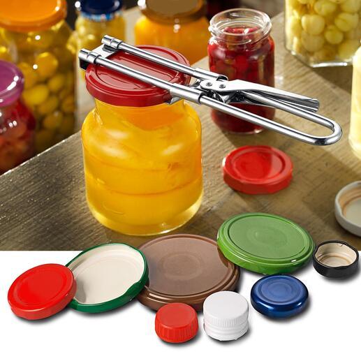 Ouvre-bouteille, lot de 2pièces Des bouteilles d'eaux aux pots de cornichons : cet ouvre-bouteille ouvre facilement tous les couvercles à vis ou presque !