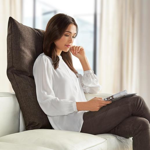Coussin de dos Bullfrog® Pour les sièges modernes encore plus confortables. Matelas confort & appuie-tête réglable 16 positions.