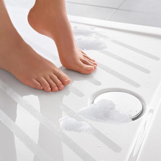 Bandelettes antidérapantes Satho®, lot de 10 Pour la douche et la baignoire. Auto-adhésives. Presque invisibles.
